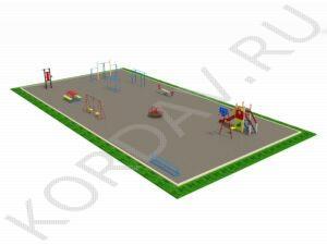Комбинированная детская площадка вид 2