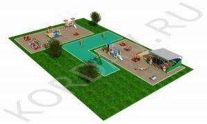 Детская площадка с беседкой вид 2