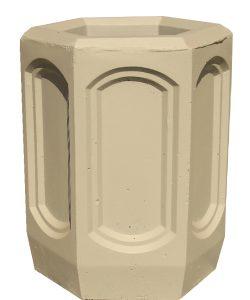 Урна бетонная шестигранная Корда 020