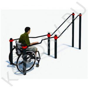 Воркаут Брусья в подъём для инвалидов в кресло-колясках СТ 2.12