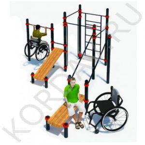 Воркаут Комплекс для инвалидов-колясочников СТ 2.20
