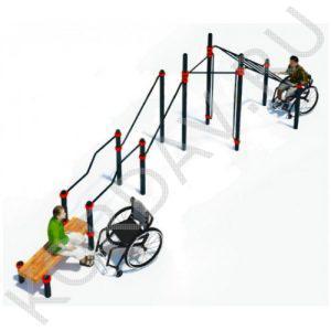 Воркаут Комплекс для инвалидов-колясочников СТ 2.22