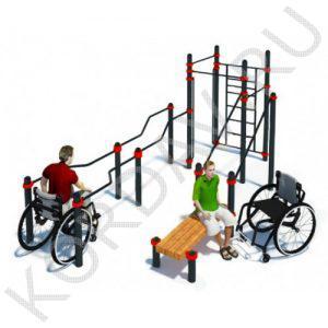 Воркаут Комплекс для инвалидов-колясочников СТ 2.23