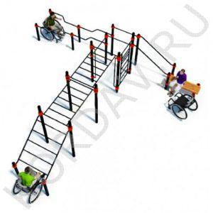 Воркаут Комплекс для инвалидов-колясочников СТ 2.24