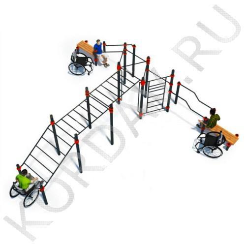 Воркаут Комплекс для инвалидов-колясочников СТ 2.25