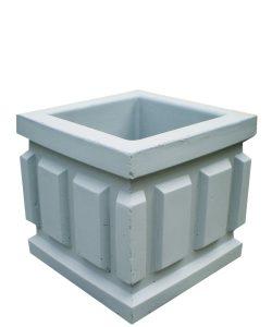 Урна бетонная квадратная с вертикальным узором Корда 025