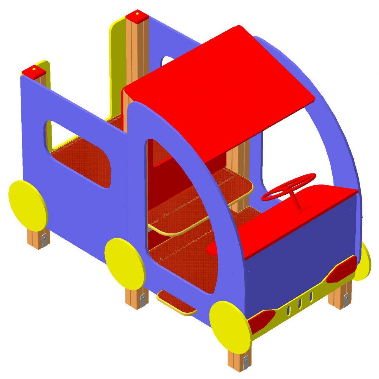 Машина без горки 2130х1070х1620мм (1)