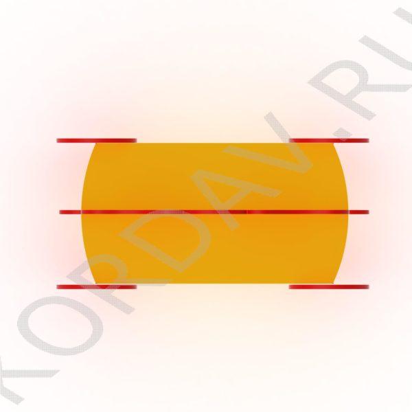 Скамейка двойная детская Карета МАФ 10.111 (0)