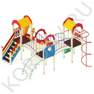 Детский игровой комплекс с  горкой и гимнастическими элементами ПДИ 2.21 (0)