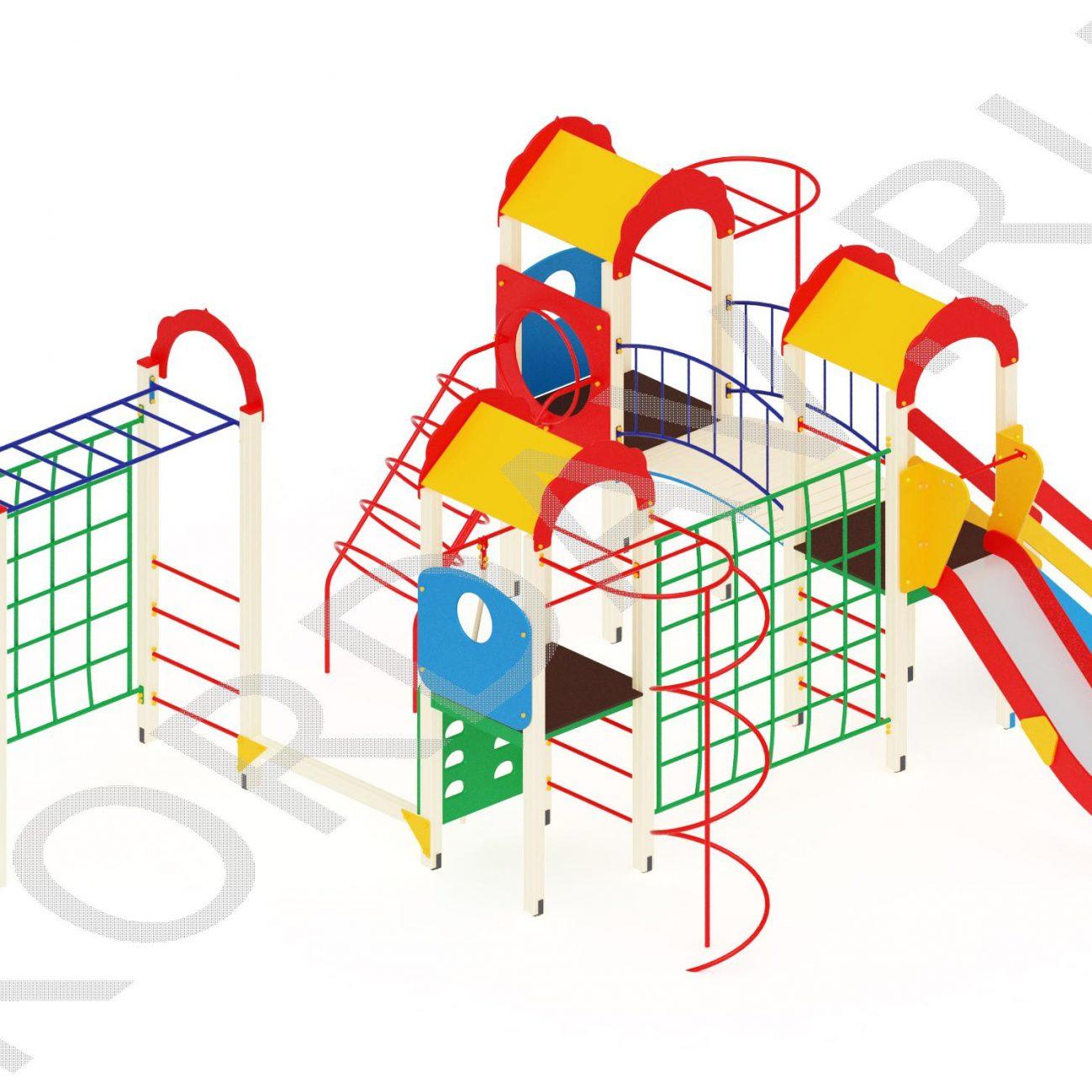 Детский комплекс многофункциональный с гимнастическими элементами ПДИ 2.23