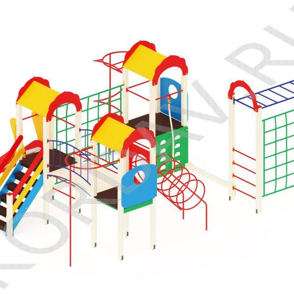 Детский комплекс многофункциональный с гимнастическими элементами ПДИ 2.23 (0)