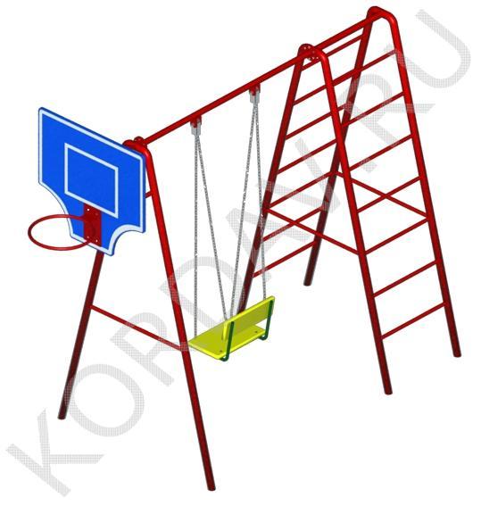 Баскетбольное кольцо, качели, лестницы СК 6.361 (2)