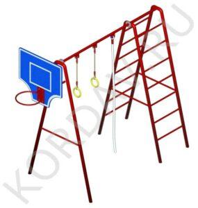 С баскетбольным кольцом, кольцами, лестницей и канатом СК 6.371 (2)