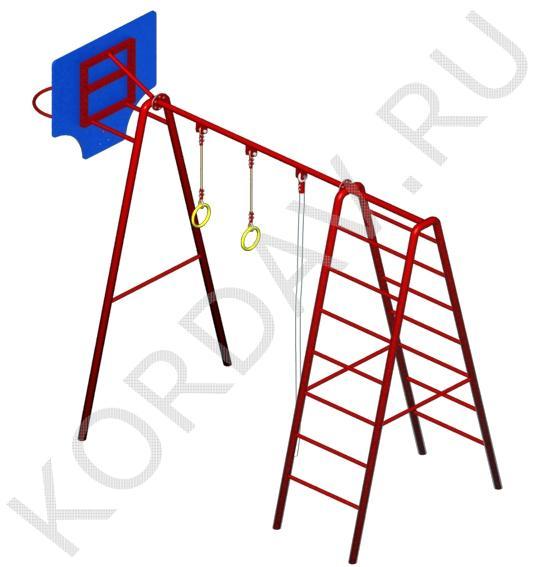 С баскетбольным кольцом, кольцами, лестницей и канатом СК 6.371 (3)