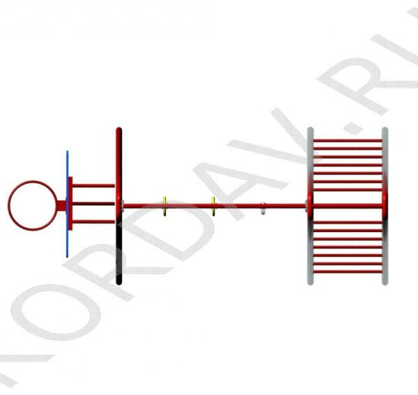 С баскетбольным кольцом, кольцами, лестницей и канатом СК 6.371 (4)