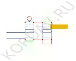 Баскетбольное кольцо, шведская стенка, скамья, турник, лазилки СК 6.351 (2)