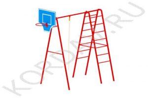 Баскетбольное кольцо, канат, лестницы СК 6.361