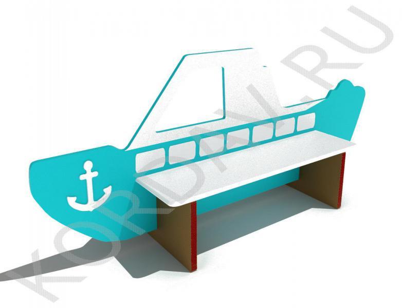 Скамейка детская Кораблик МАФ 10.061 (0)