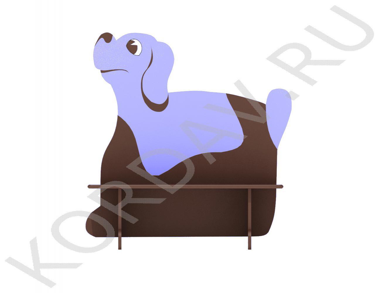 Скамейка двойная детская Пёс МАФ 10.091