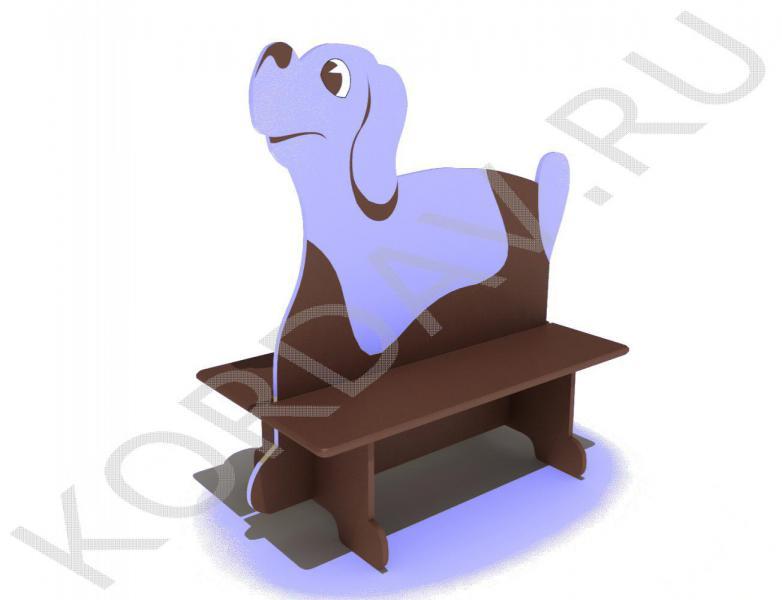Скамейка двойная детская Пёс МАФ 10.091 (0)