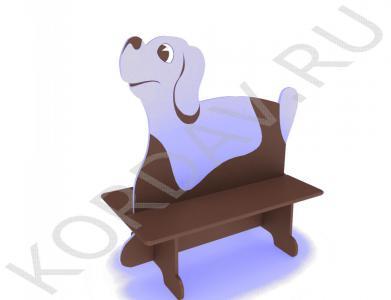 Скамейка двойная детская Пёс МАФ 10.091 (1)