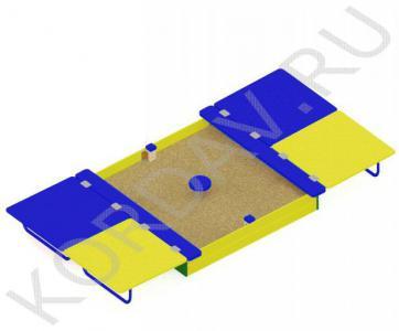 Песочница с крышкой большая МАФ 8.221 (1)