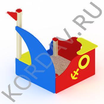 Песочница Кораблик с парусом МАФ 8.251 (0)
