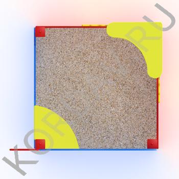 Песочница Кораблик с парусом МАФ 8.251 (3)