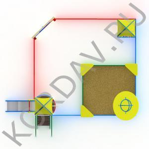 Песочный дворик космос с горкой МАФ 8.341 (3)