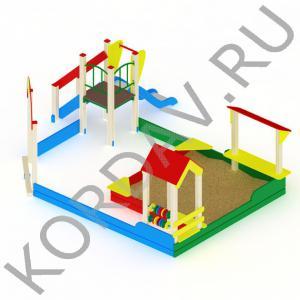 Песочный дворик с горкой МАФ 8.351 (0)