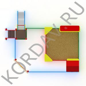 Песочный дворик с горкой МАФ 8.351 (3)