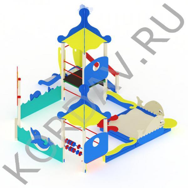 Песочный дворик  морской с горкой МАФ 8.371 (0)