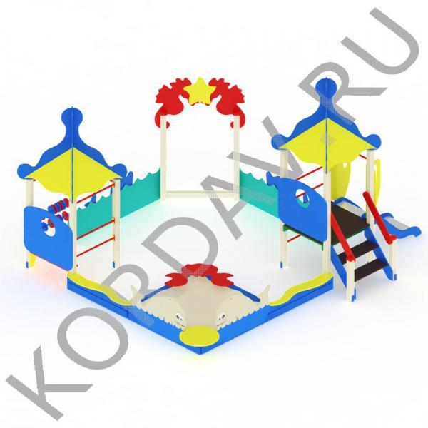 Песочный дворик  морской с горкой МАФ 8.371 (1)