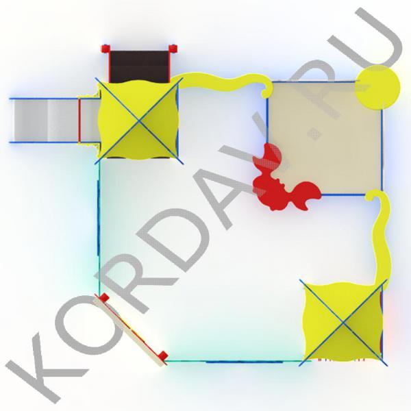 Песочный дворик  морской с горкой МАФ 8.371 (3)