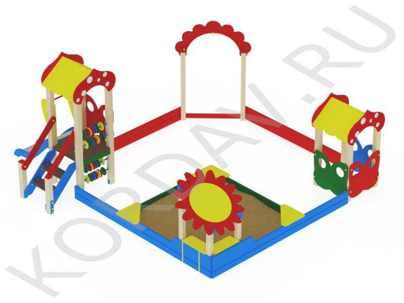 Песочный дворик поле с горкой МАФ 8.401 (1)
