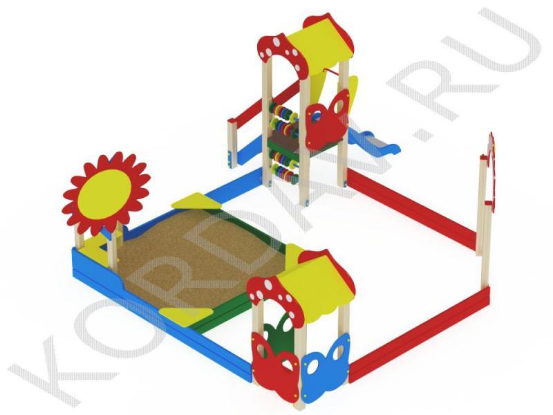 Песочный дворик поле с горкой МАФ 8.401 (2)