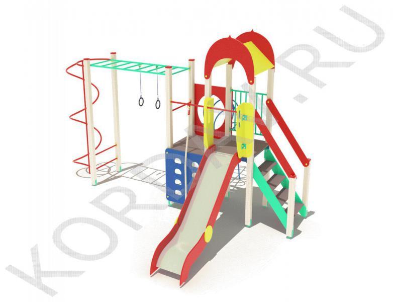 Детский игровой комплекс с кольцами и горкой ПДИ 2.10 (0)