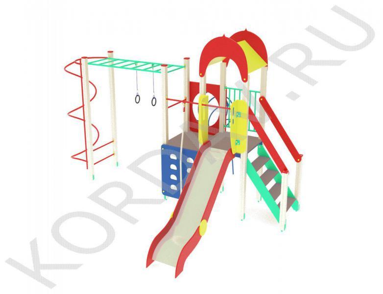 Детский игровой комплекс с кольцами и горкой ПДИ 2.10 (1)