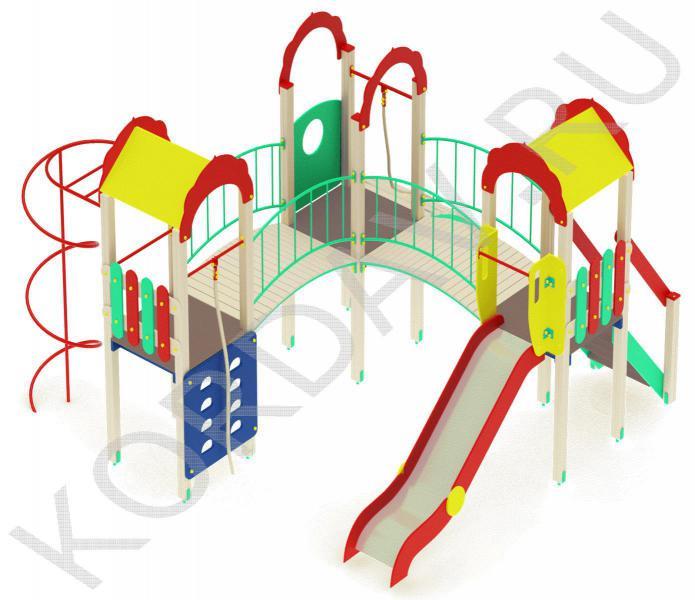 Детский игровой комплекс с  горкой и гимнастическими элементами ПДИ 2.21 (5)