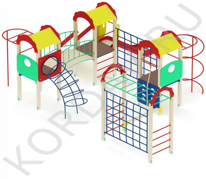 Детский комплекс многофункциональный с гимнастическими элементами ПДИ 2.23 (1)