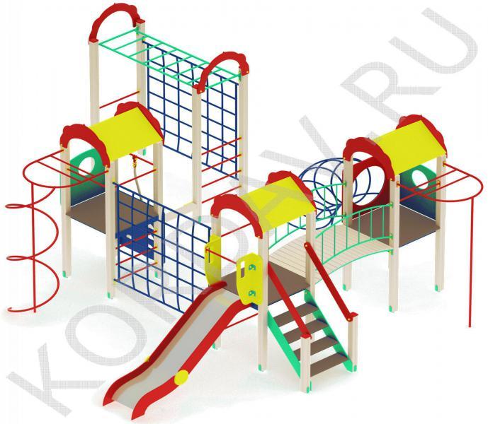 Детский комплекс многофункциональный с гимнастическими элементами ПДИ 2.23 (2)