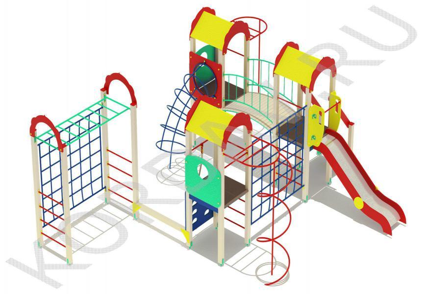 Детский комплекс многофункциональный с гимнастическими элементами ПДИ 2.23 (3)