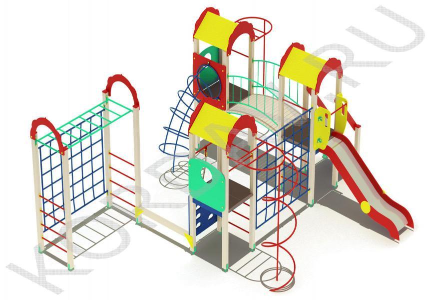 Детский комплекс многофункциональный с гимнастическими элементами ПДИ 2.23 (4)