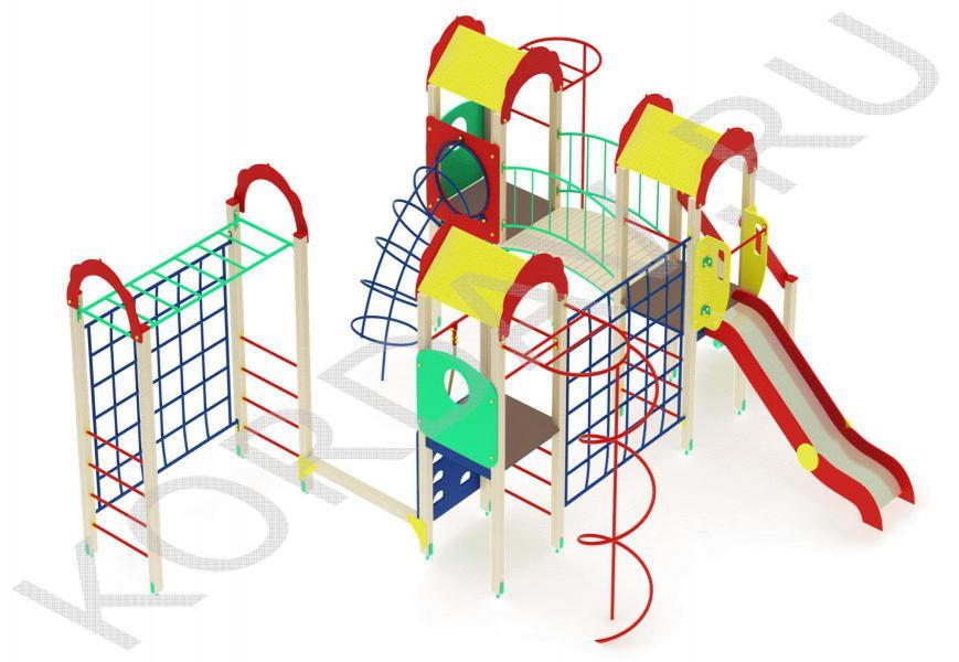 Детский комплекс многофункциональный с гимнастическими элементами ПДИ 2.23 (5)