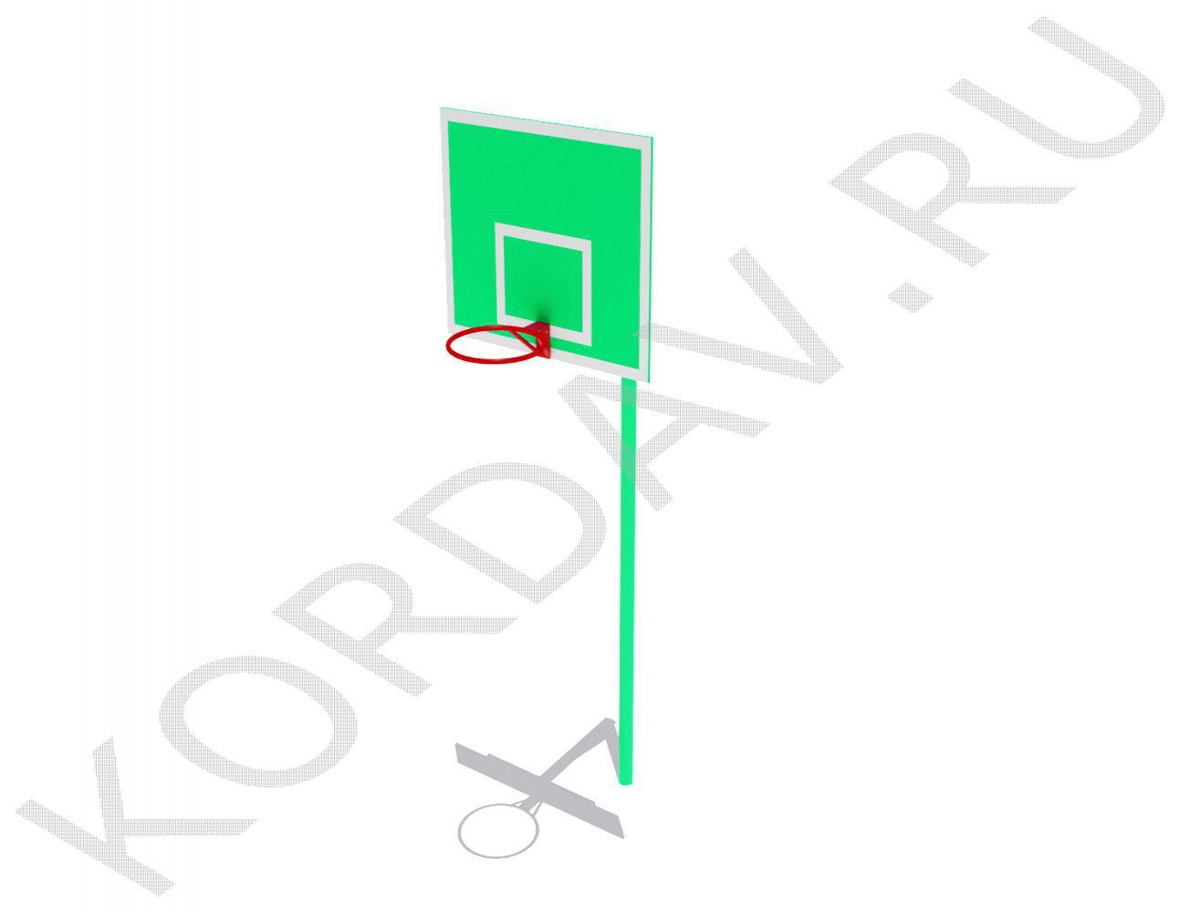 Стойка баскетбольная со щитом и кольцом СИ 6.191