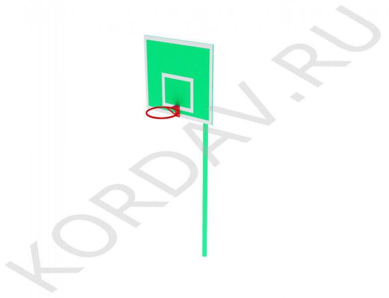Стойка баскетбольная со щитом и кольцом СИ 6.191 (1)
