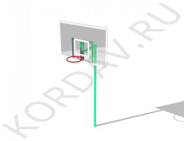 Стойка баскетбольная со щитом и кольцом СИ 6.191 (2)
