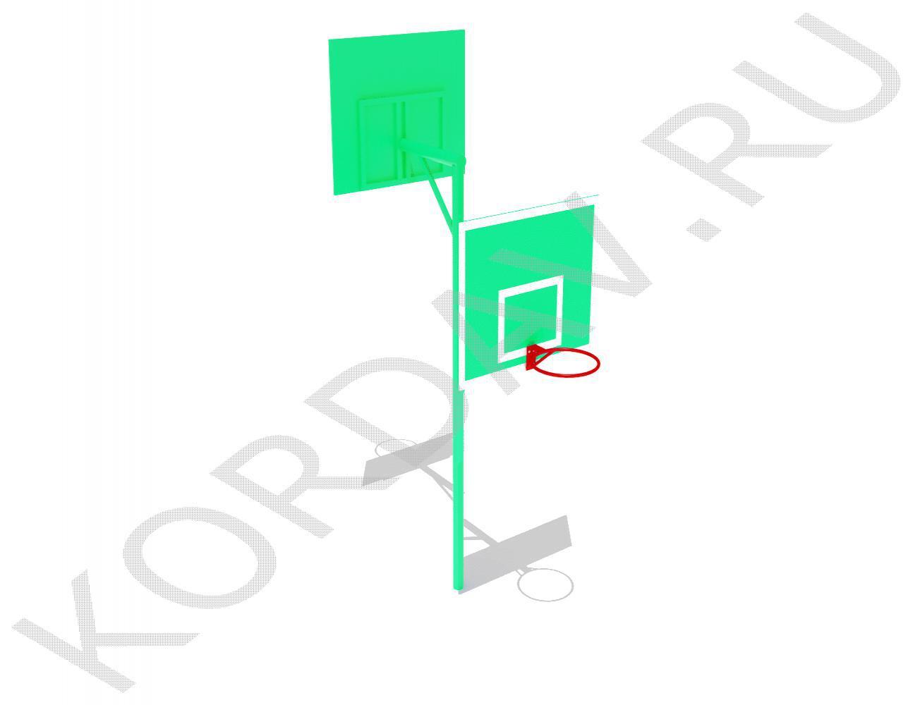 Стойка баскетбольная комбинированная СИ 6.201