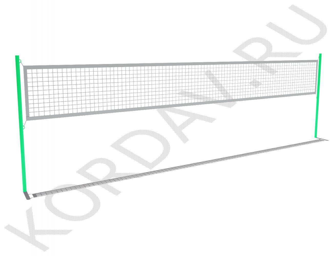 Комплект волейбольных стоек (без сетки) СИ 6.221