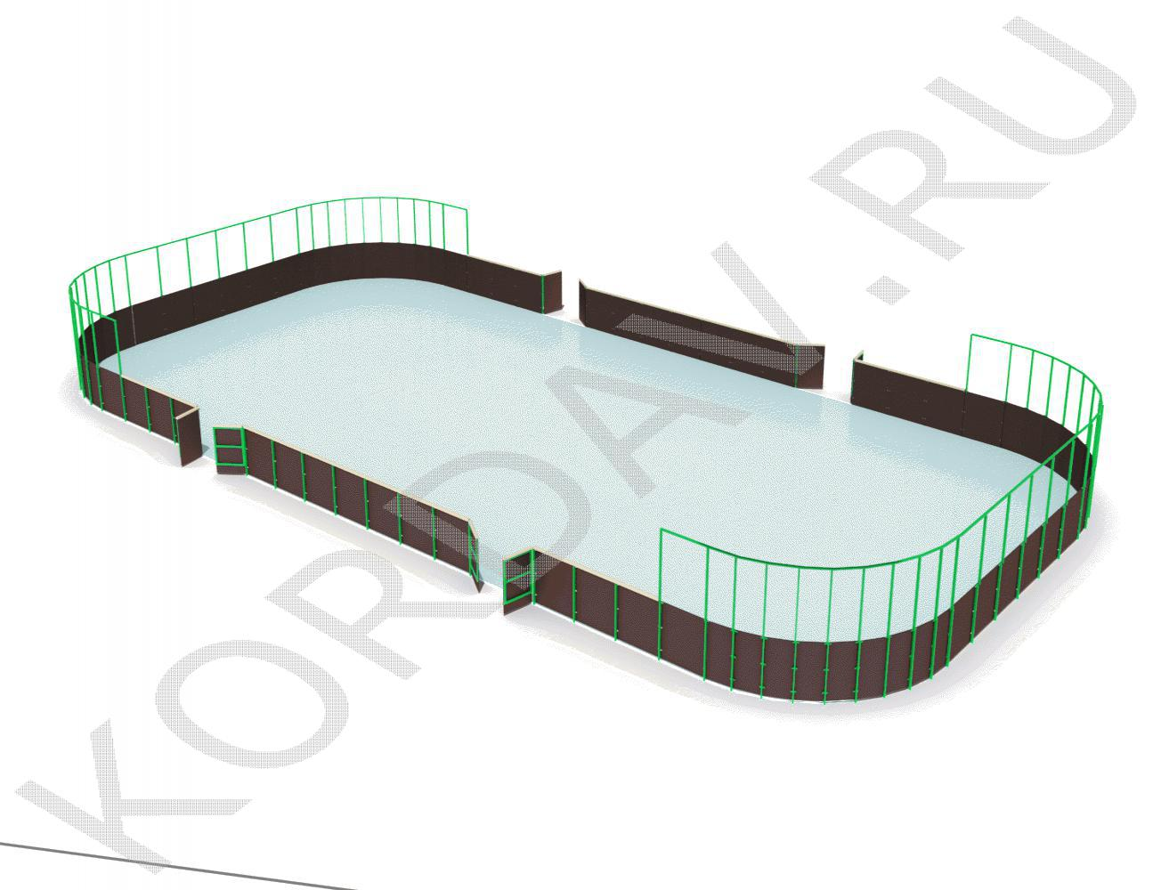 Хоккейная коробка с высокими бортами СИ 6.282